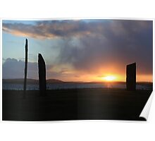 Sunset at Stenness Poster