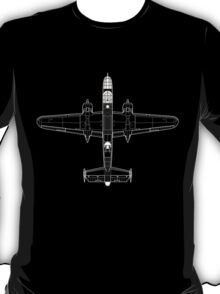 North American B-25C Mitchell Blueprint T-Shirt