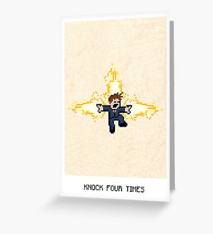 Knock Four Times Greeting Card