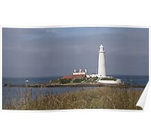 St Mary's Lighthouse Whitley Bay Poster