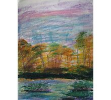 Pastel Sunset on the Riverbank Photographic Print