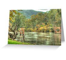 A River Runs Through It - Jingellic NSW/Walwa Victoria - The HDR Experience Greeting Card