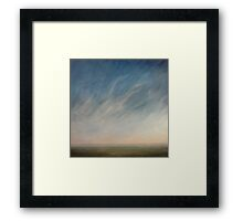 View across the downs. Framed Print