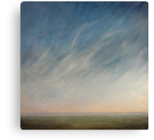 View across the downs. Canvas Print