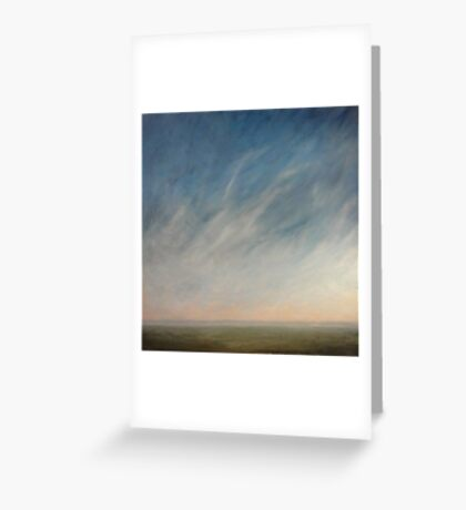 View across the downs. Greeting Card