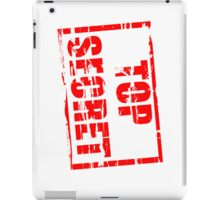 Top secret iPad Case/Skin