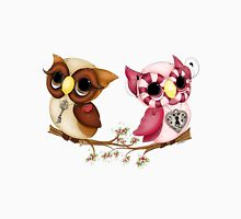 So In Love Hooties - Valentines Owl Art Unisex T-Shirt