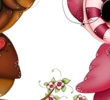 So In Love Hooties - Valentines Owl Art Sticker