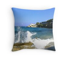 waterfront overlooking blue Throw Pillow