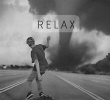 B&W Relax Skate iPhone Case by iamjt