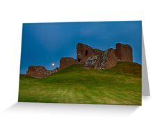 DUFFUS CASTLE FULL MOON LANDSCAPE Greeting Card