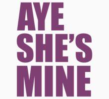Aye She's Mine Pink by daleos
