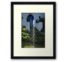 Fountain at Portmeirion Framed Print