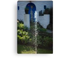 Fountain at Portmeirion Canvas Print