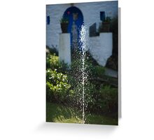 Fountain at Portmeirion Greeting Card