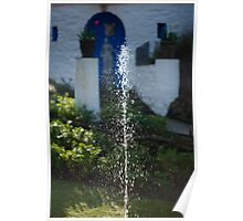 Fountain at Portmeirion Poster