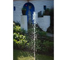 Fountain at Portmeirion Photographic Print
