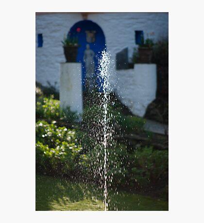 Fountain at Portmeirion Photographic Print