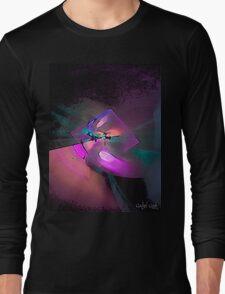 Dry Brush Fractal Long Sleeve T-Shirt