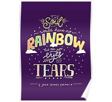 Rainbow and Tears Poster