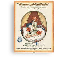 KOMM SPIEL MIT MIR (vintage illustration) Canvas Print