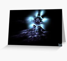 Blue ghost. Greeting Card