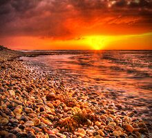 Sunset at Lillico Beach by Marcus Salter