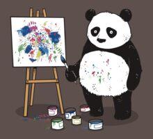 Pandas paint colorful pictures. Kids Clothes