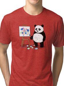 Pandas paint colorful pictures. Tri-blend T-Shirt