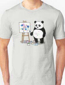 Pandas paint colorful pictures. T-Shirt