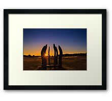 Sunset for all.. Framed Print