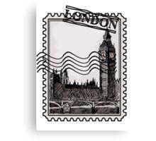 London Post Stamp Canvas Print
