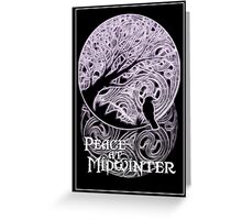 Midwinter Peace greeting card Greeting Card