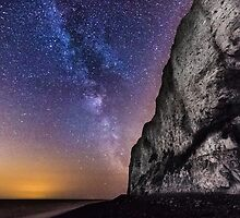 White Cliffs of Dover at night by Ian Hufton