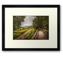 Farm - Landscape - Jersey crops Framed Print