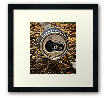 Just a tin can Framed Print