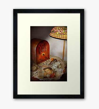 Vintage - What's on the radio tonight Framed Print