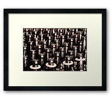 Tossing Rings  Framed Print