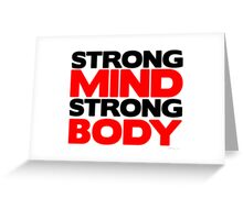 Strong Mind Strong Body | Fitness Slogan Greeting Card