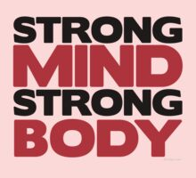 Strong Mind Strong Body   Fitness Slogan Kids Clothes