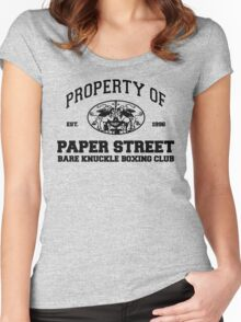 Property of Paper Street Bare Knuckle Boxing Club Women's Fitted Scoop T-Shirt