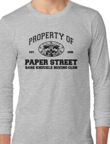 Property of Paper Street Bare Knuckle Boxing Club Long Sleeve T-Shirt