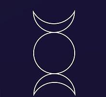 Triple Goddess by emilydraws