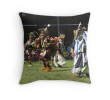 First Nations Warriors at Pow Wow Throw Pillow