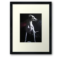 By the Light of the Window Framed Print