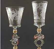 Moser Wine Glasses by Baron Guibal J P Dip