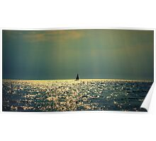 sailing on a sea of gold Poster