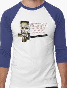 William S Burroughs 'Cut Up' Inspired Tee Men's Baseball ¾ T-Shirt