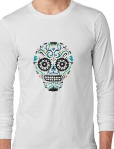 Sugar Skull SF multi om white Long Sleeve T-Shirt