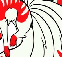 Red Kistune fox Sticker